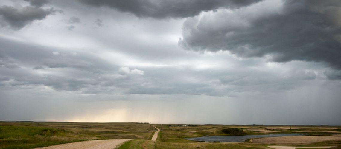 Storm Clouds Prairie Sky Canada Ominous danger