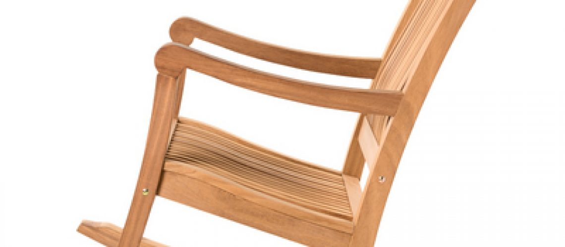 rocking chair on white